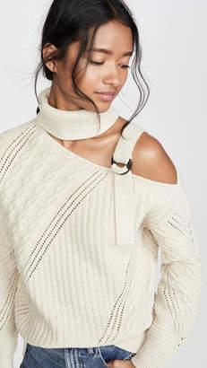 Jonathan Simkhai Strapped Wool Asymmetric Sweater