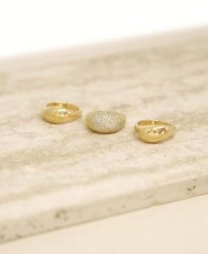 Ettika 18K Gold Timeless Glamour Women's Ring Set