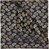River Island MensNavy and gold paisley print pocket square