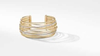 David Yurman The Crossover Collection Cuff Bracelet In 18K Yellow