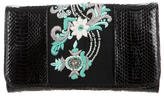 Dries Van Noten Embellished Python Clutch