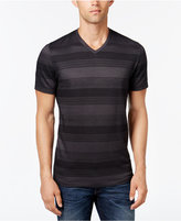 Alfani Men's Big and Tall Stripe V-Neck T-Shirt