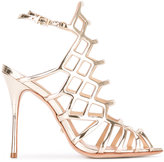 Schutz caged sandals - women - Leather/Patent Leather - 36