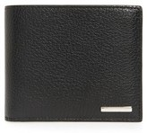 Ermenegildo Zegna Men's Pebbled Leather Bifold Wallet - Black