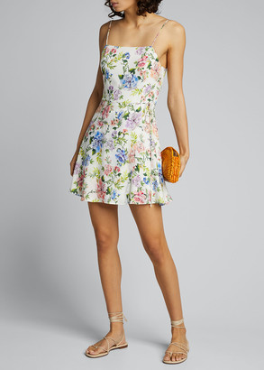 Alice + Olivia Trixie Spaghetti-Strap Mock Wrap Dress