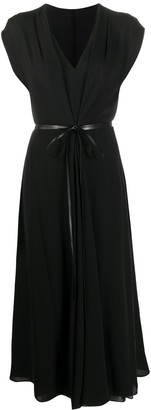 Valentino Belted Mid-Length Dress