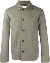 Closed patch pocket shirt jacket - men - Cotton/Linen/Flax - M