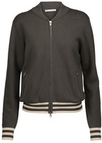 Autumn Cashmere Milano Knitted Cotton Bomber Jacket