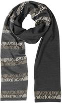 Roberto Cavalli Signature Double Face Wool Blend Men's Scarf