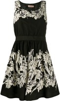 Twin-Set Floral Sleeveless Mini Dress