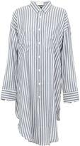 Faith Connexion oversized striped shirt - women - Silk - XS