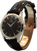 One Kings Lane Vintage Omega Black & Silver Watch, Ref. 2503-21