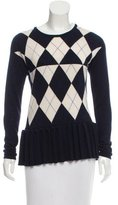Derek Lam Cashmere & Silk-Blend Argyle Sweater