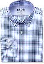 Izod Men's Slim Fit Check Buttondown Collar Dress Shirt