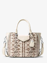 Michael Kors Blakely Snake-Embossed Leather Satchel