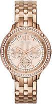 Armani Exchange AX5406 Women's Chronograph Crystal Bracelet Strap Watch, Rose Gold