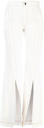 Chloé Front Split Flare Jeans
