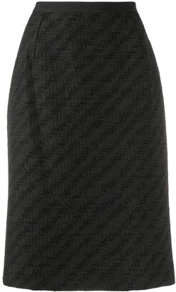 Dolce & Gabbana Diagonal Pattern Pencil Skirt