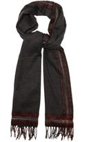 Bottega Veneta Contrast-stripe scarf