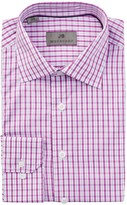JB Britches Long Sleeve Trim Fit Plaid Dress Shirt