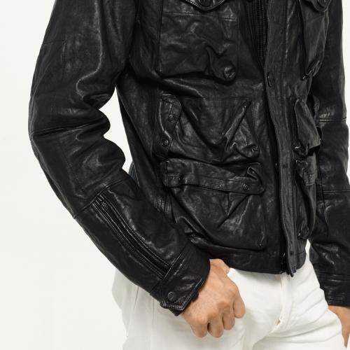 Ralph Lauren Black Label Denim Lambskin Utility Jacket