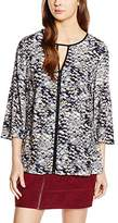 Saint Tropez Women's N19 Regular Fit Long Sleeve Blouse - multi-coloured - 8