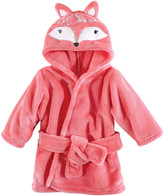 Hudson Baby Girls' Bath Robes Boho - Red Boho Fox Hooded Bathrobe - Newborn