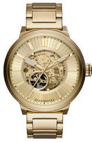 Armani Exchange ATLC Goldtone Stainless Steel Open Dial Automatic Watch