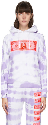 Ashley Williams Purple and White Money Hoodie