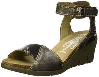 Fly London Women's IMAT455FLY Ankle Strap Sandals, (Pale Blue/Bronze 005), 9 (42 EU)