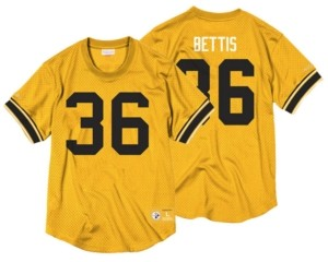 Mitchell & Ness Men's Jerome Bettis Pittsburgh Steelers Name & Number Mesh Crewneck Top