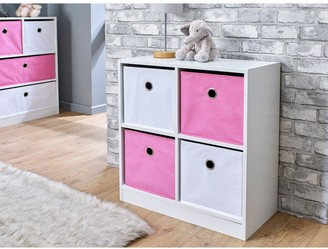 Lloyd Pascal 4 Cube Storage Unit Pink/White