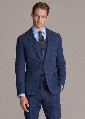 Ralph Lauren Hadley Windowpane Suit Jacket
