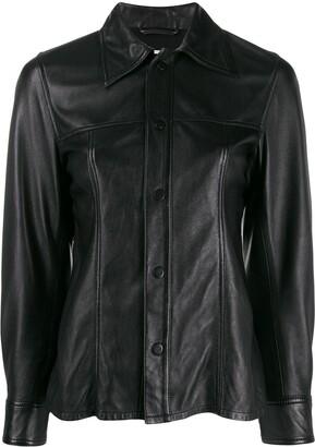 AMI Paris Smooth Leather Overshirt