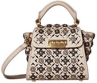 ZAC Zac Posen Eartha Mini Top-Handle - Floral Applique (Mushroom) Handbags