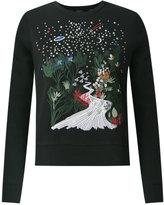 Talie Nk - embroidered sweatshirt - women - Cotton/Polyamide/Polyester/Spandex/Elastane - P