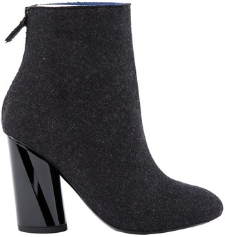 Proenza Schouler Anthracite Cloth Ankle boots
