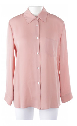 Mansur Gavriel Pink Silk Top for Women