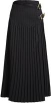 Toga Pleated wool-blend skirt