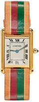 Lacalifornienne Red and Green Small Cartier Tank Watch