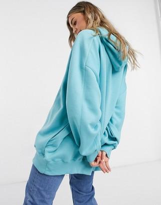 Bershka oversized hoodie in teal