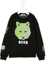MSGM intarsia-knit sweatshirt