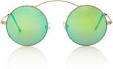 Spektre Met-ro Green Round-Frame Stainless Steel Sunglasses