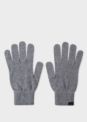 Men's Grey Cashmere And Merino Wool Gloves