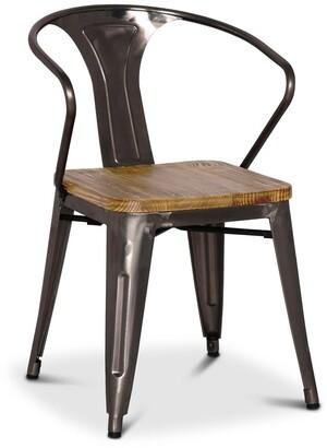 Apt2B Grand Metal Arm Chair GUNMETAL - SET OF 4