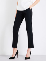 Armani Collezioni Straight high-rise cropped wool-blend trousers