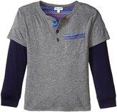 Splendid Twofer Jersey Henley (Toddler) - Charcoal Grey - 4T