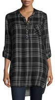 Tolani Joselyn Plaid & Elephant Print Tunic