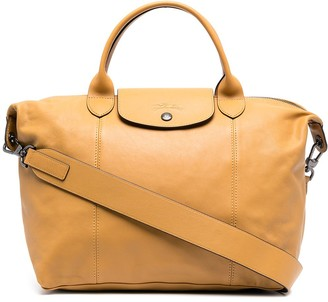 Longchamp medium Le Pliage Cuir top handle bag