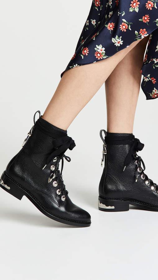 Toga Pulla Lace Up Combat Boots